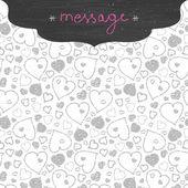 Schoolbord kunst harten frame naadloze patroon achtergrond — Stockvector