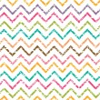Colorful grunge chevron seamless pattern background — Stock Vector