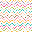 Stock Vector: Colorful grunge chevron seamless pattern background