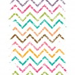 Colorful grunge chevron vertical border seamless pattern background — Stock Vector