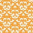 Cute geometrical foxes seamless pattern background — ストックベクタ