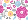 Vibrant floral scaterred horizontal seamless pattern background — Stock Vector