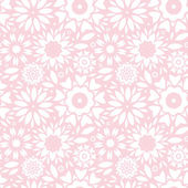Light pink abstract flowers seamless pattern background — Stock Vector