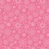 Folk pink floral circles texture abstract seamless pattern background — Stock Vector