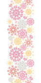 Folk floral circles abstract vertical seamless pattern background — Stock Vector