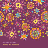 Colorful stars horizontal border seamless pattern background template — Stockvektor