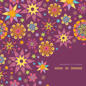 Colorful stars corner seamless pattern background template — Stok Vektör