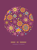 Colorful stars circle decor pattern background template — Stok Vektör