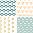 Four abstract arrow shapes seamless patterns set — Stock Vector #44842781