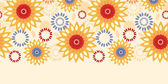 Warm vibrant floral abstract horizontal seamless pattern background — Vettoriale Stock