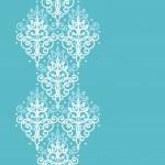 Light blue swirls damask vertical seamless pattern background — Stock Vector #46632399