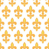 Golden lily seamless pattern background — Vettoriale Stock