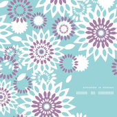 Purple and blue floral abstract frame corner pattern background — ストックベクタ
