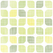 Abstract textile green rounded squares seamless pattern background — Stock Vector