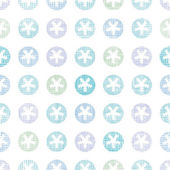 Abstract Textile Snowflakes Dots Seamless Pattern Background — Stock Vector
