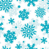 Blue Frost Snowflakes Seamless Pattern Background — Stok Vektör