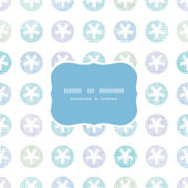 Abstract Textile Snowflakes Dots Frame Seamless Pattern Background — Vettoriale Stock