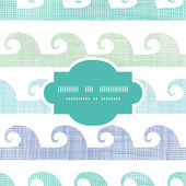Abstract textile waves stripes frame seamless pattern background — Vector de stock