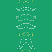 Line art mustaches vertical seamless pattern background — Stock Vector