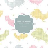 Abstrakt textil roosters ram sömlös bakgrund — Stockvektor