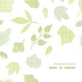 Textile texture cadre coin motif abstrait — Vecteur