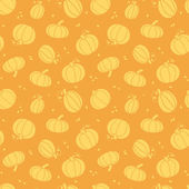 Thanksgiving golden pumpkins seamless pattern background — Stock Vector