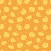 Thanksgiving golden pumpkins seamless pattern background — Stock Vector