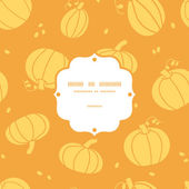 Thanksgiving golden pumpkins frame seamless pattern background — Stock Vector