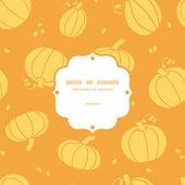 Thanksgiving golden pumpkins frame seamless pattern background — Stockvektor