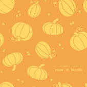 Thanksgiving golden pumpkins frame corner pattern background — Stock Vector