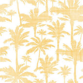 Vector palm trees golden textile seamless pattern background — Stock Vector