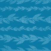 Blue vines stripes textile textured seamless pattern background — Stockvektor
