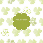 Clover geometric textile textured frame seamless pattern background — Vettoriale Stock