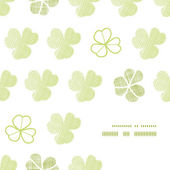 Clover geometric textile textured frame corner pattern background — 图库矢量图片