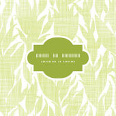 Green leaves textile texture frame seamless pattern background — Stok Vektör