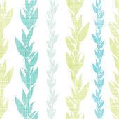 Blue green seaweed vines seamless pattern background — Stock Vector