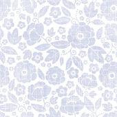Purple textile flowers texture seamless pattern background — Stock Photo
