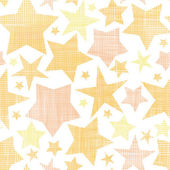 Golden stars textile textured seamless pattern background — Stock Vector