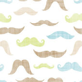 Mustaches textile textured seamless pattern background — Stok Vektör