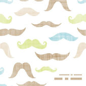 Fun silhouette mustaches frame corner pattern background — Stock Vector