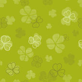 Green clover textile texture seamless pattern background — Stock Vector