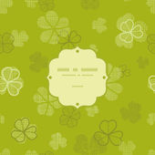 Green clover textile texture frame seamless pattern background — Stok Vektör