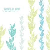 Blue green seaweed vines frame corner pattern background — Stock Vector