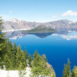 Wizard Island of Crater Lake during the summer — ストック写真