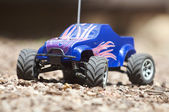 Horizontal remote controlled electric truck with plastic body — Stock Photo