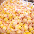 Pile of yellow salt water taffy candy — Stock Photo