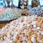 Assortment of salt water taffy candy — Stock Photo