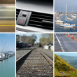 Stock Photo: Composite of transportation and mobility images