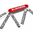Stock Photo: Five characteristics of successful business