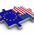 US European co-operation - Stock Photo